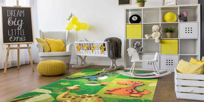 نکاتی درباره خرید فرش برای اتاق کودک