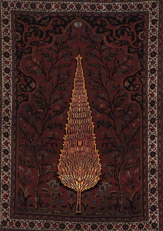 طرح و نقش درختی در فرش